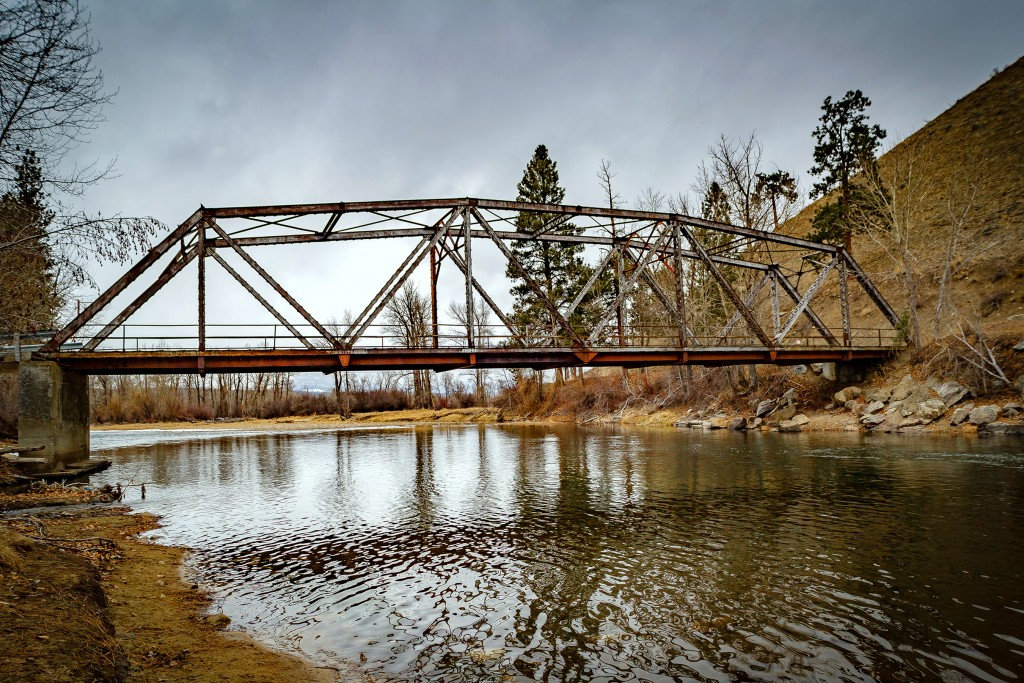 Old Darby Bridge in Feb 2016, upper Bitterroot River